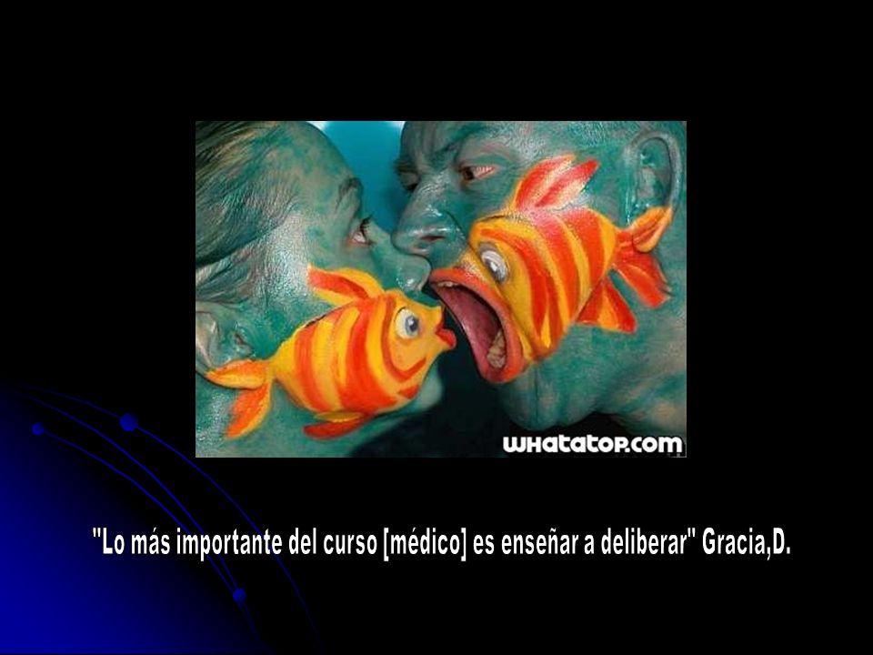 Lo más importante del curso [médico] es enseñar a deliberar Gracia,D.
